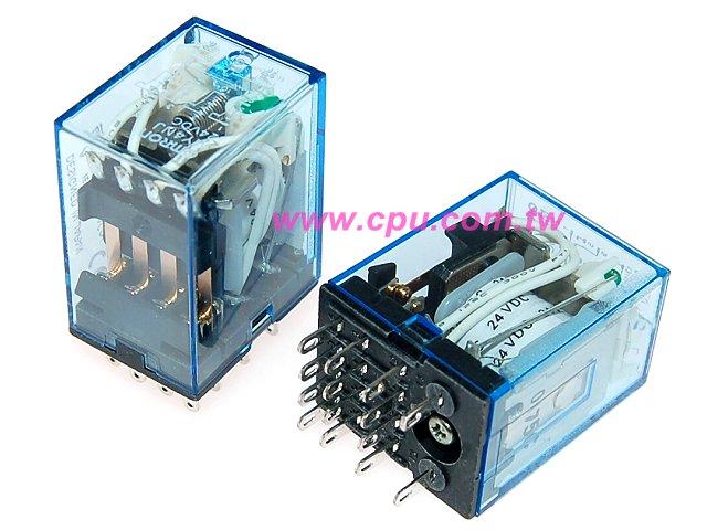 日制omron ac220v小型继电器 (含led,4pdt)